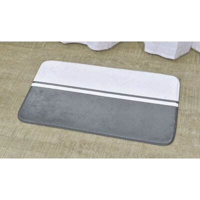 Printed Bath Rug Size: 17 x 29.5, Color: White / Gray