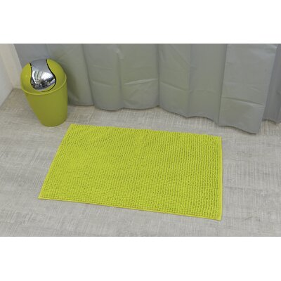 Soft Luxurious Ball Bath Rug Size: 17 x 30, Color: Lime Green