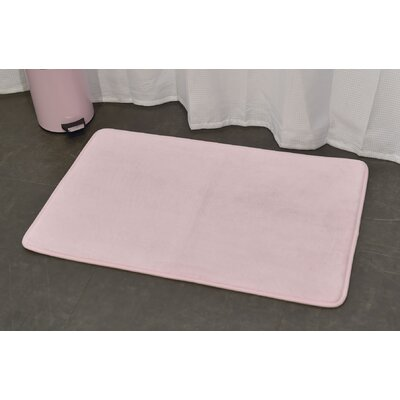 Ultra Soft Highlight Bath Rug Color: Pink