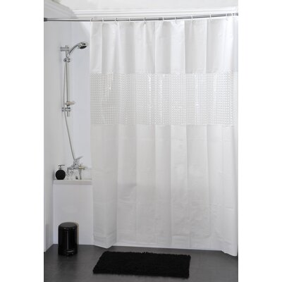 Laser Shower Curtain Color: White