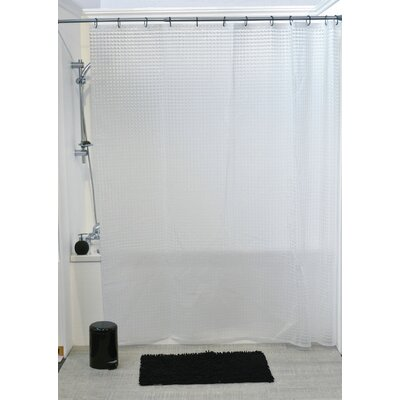 Laser Eva 3D Effect Shower Curtain Color: White