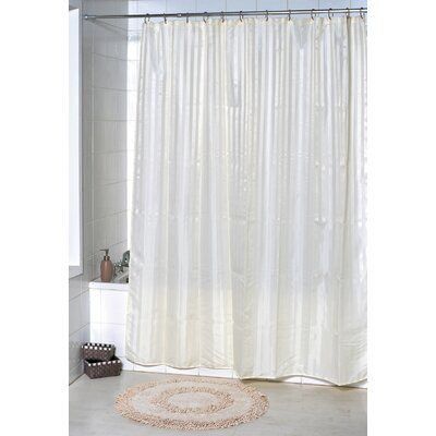 Vertical Stripes Shower Curtain Color: Beige