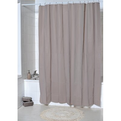 Eva Solid Shower Curtain Color: Taupe