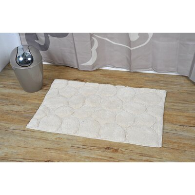 Prestige Stone Rectangular Soft Bath Rug Color: Beige