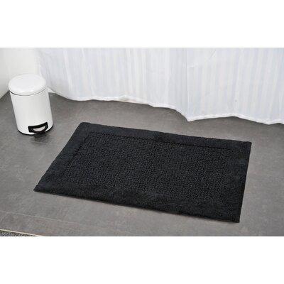 Prestige Karma Rectangular Soft Bath Rug Color: Black