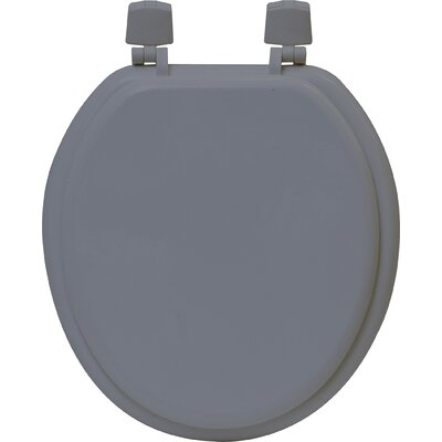 Round Molded Toilet Seat Color: Gray