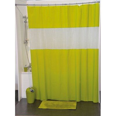 Laser Shower Curtain Color: Lime Green