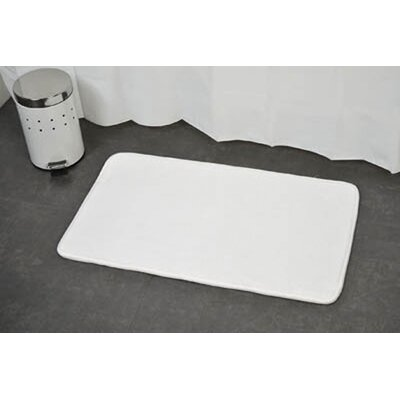 Non Skid Rectangular Bath Mat Color: White