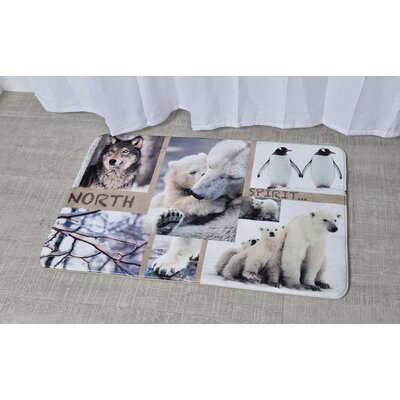 North Spirit Printed Bath Mat Size: 23.62 x 35.43