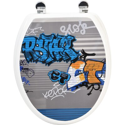Graffiti Elongated Toilet Seat