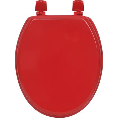 Solid Elongated Toilet Seat Color: Red