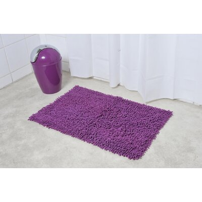 Soft Shaggy Loop Bath Rug Color: Purple