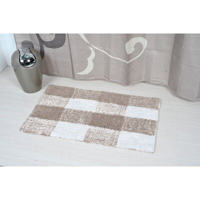 Prestige Romeo Rectangular Soft Bath Rug Color: Beige