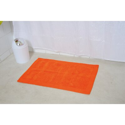 Velvet Border Bath Rug Color: Orange