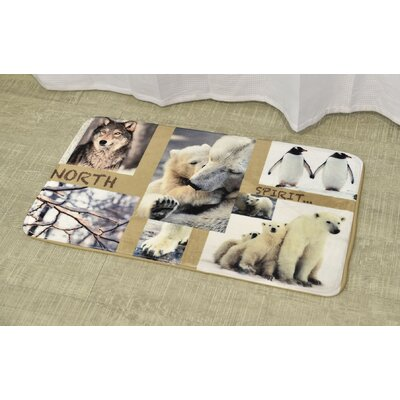 North Spirit Printed Bath Mat Size: 17 x 29.5