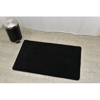 Non Skid Rectangular Bath Mat Color: Black