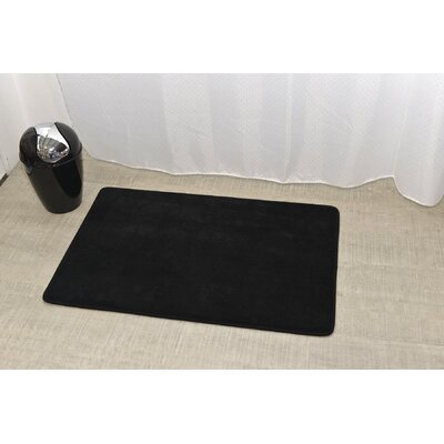 Douceur Ultra Soft Bath Rug Color: Black