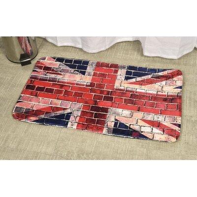 Union Jack Printed Bath Rug Size: 17 x 29.5
