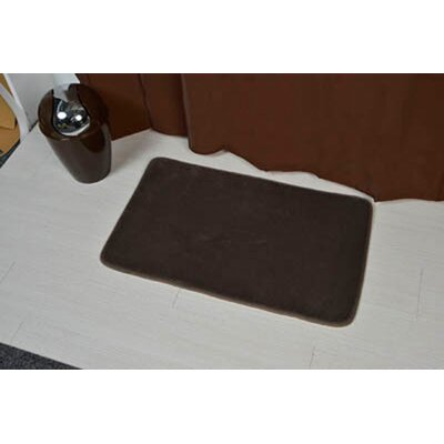 Non Skid Rectangular Bath Mat Color: Brown