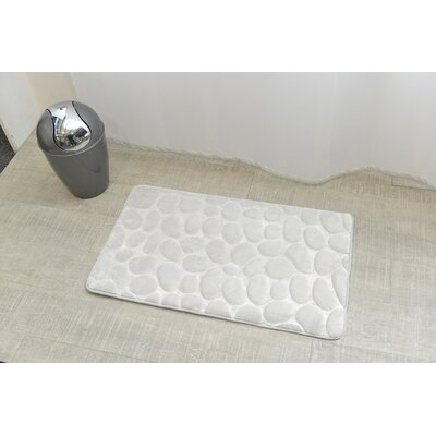 Stone Non Skid Bath Rug Color: White