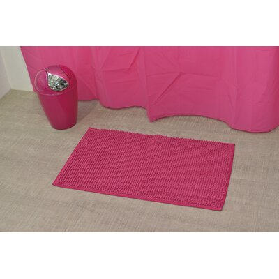 Soft Luxurious Ball Bath Rug Size: 17 x 30, Color: Fuchsia