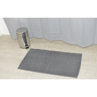 Soft Luxurious Ball Bath Rug Size: 17 x 30, Color: Gray