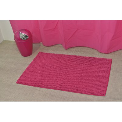 Soft Luxurious Ball Bath Rug Size: 24 x 36, Color: Fuchsia