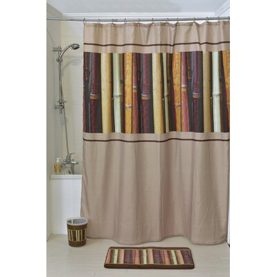 Java Printed Shower Curtain