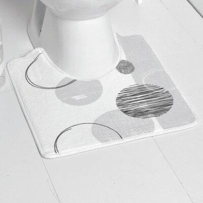Essential Printed Microfiber Bath Toilet Contour Rug Mat