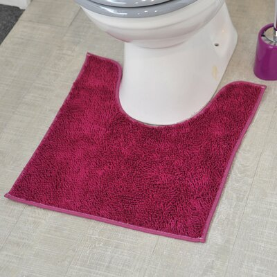 Non Skid Contour Mat Color: Purple