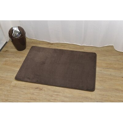 Douceur Ultra Soft Bath Rug Color: Brown