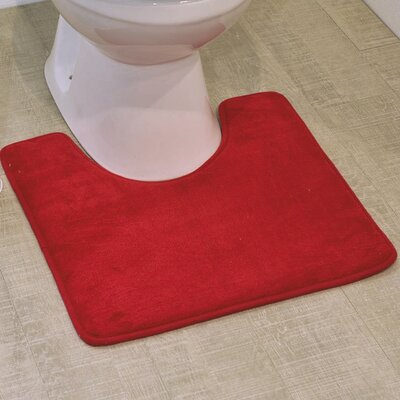 Non Skid Contour Mat Color: Red