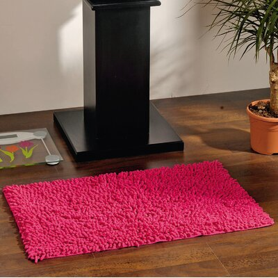 Soft Shaggy Loop Bath Rug Color: Fuchsia