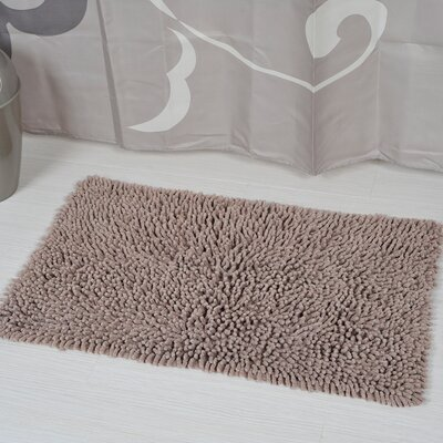 Soft Shaggy Loop Bath Rug Color: Taupe