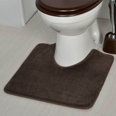 Non Skid Contour Mat Color: Brown