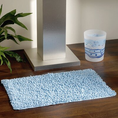 Soft Shaggy Loop Bath Rug Color: Light Blue