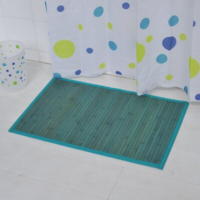 Anti Slippery Bath Mat Color: Blue