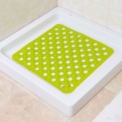 Non Skid Square Shower Mat Color: Green