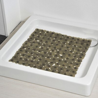 Non Skid Rectangular Bath Mat Color: Gray