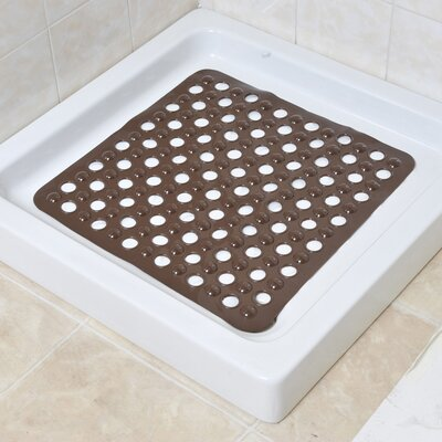 Non Skid Square Shower Mat Color: Brown