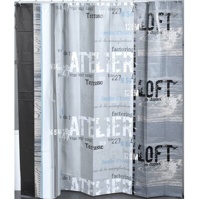 Atelier Loft Printed Shower Curtain