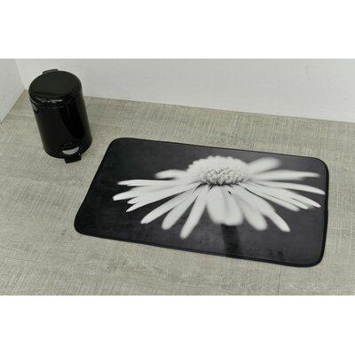 Daisy Printed Microfiber Bath Mat