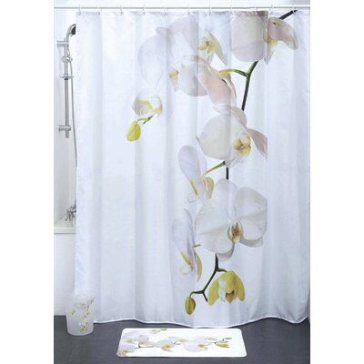 Purity Orchid Polyester Printed Shower Curtain