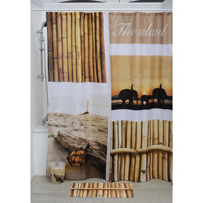 The Island Polyester Printed Shower Curtain