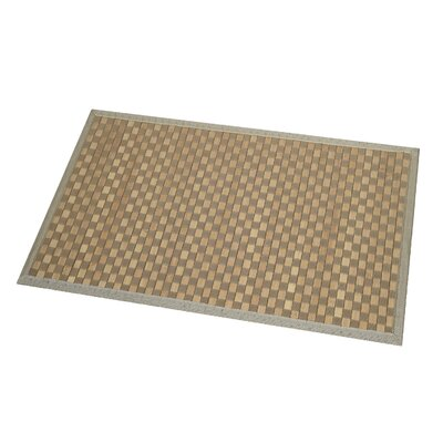 Checkerboard Bath Rug Color: Light Brown