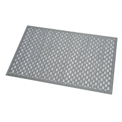 Checkerboard Bath Rug Color: Washed Gray