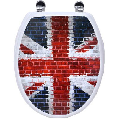 Union Jack Elongated Toilet Seat