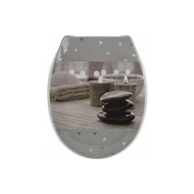 Zen Garden Printed Duroplast Oval Toilet Seat Decal