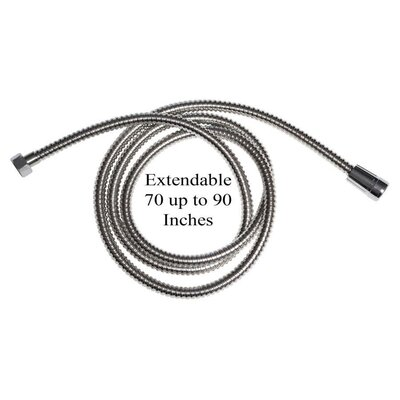 Extendable 70 to 90 Stainless Steel Flexible Handheld Shower Hose
