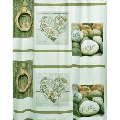 Design Nature Bathroom Peva Liner Shower Curtain